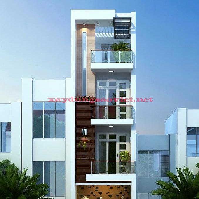 thiết kế nhà phố đẹp quận tân phú